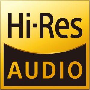 Logo de la haute résolution audio, l'Hi-Res