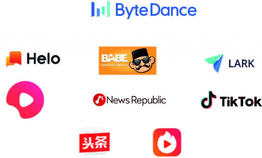 Tous les logos de tous les produits ByteDance